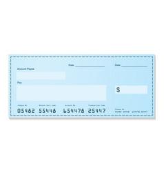 bank cheque vector image vector image