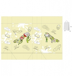 decorative bag vector image vector image