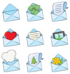 funny envelopes vector image