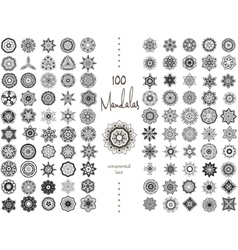 Mandala Card Set vector image