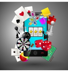 Mobile games concept vector image vector image