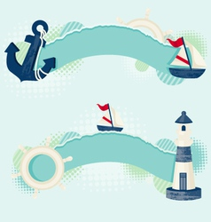Nautical banners vector
