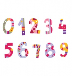 set of cute numbers vector image vector image