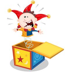 cartoon jack in the box vector image