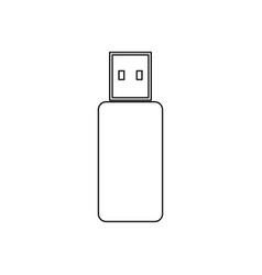 Flash drive black color icon vector