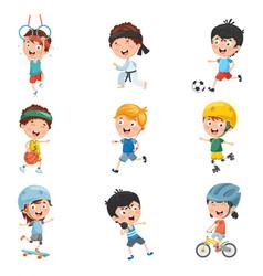 kids making sport vector image