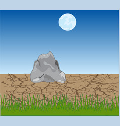 lifeless desert in the night vector image
