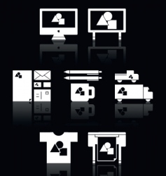 print shop icons vector image