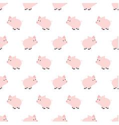 seamless pattern piggy art background design for vector image