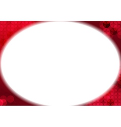 White oval background vector image vector image