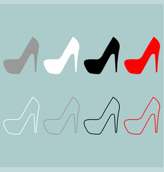 womans shoes icon vector image