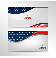 usa banner background vector image vector image