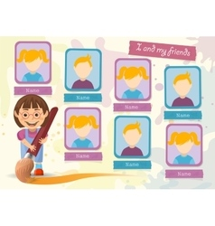 Yearbook about boy and paint brush vector image vector image