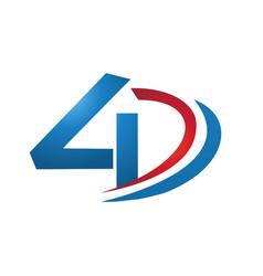4d logo design concept vector image
