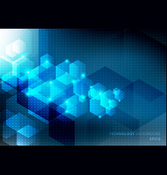 Abstract science and technology concept from blue vector