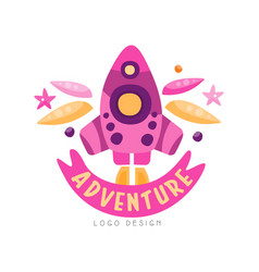 adventure logo design summer vacation weekend vector image
