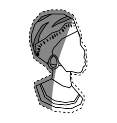 African woman silhouette vector