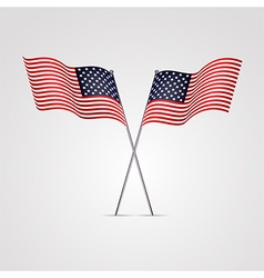 American flag isolated on white background vector image