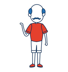 avatar man standing father character in blue and vector image