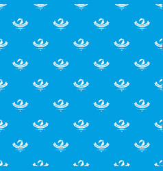 beach volleyball pattern seamless blue vector image