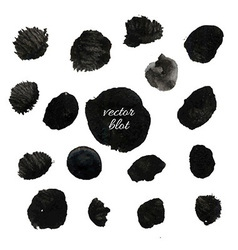 Big Black Blob Collection vector image