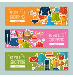 Big sale and shopping vector image