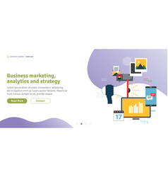 business marketing analytics and strategy vector image