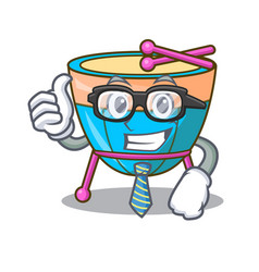 Businessman cartoon timpani in the orchestra group vector
