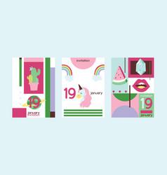 Cartoon girlish accessories lipstick vector