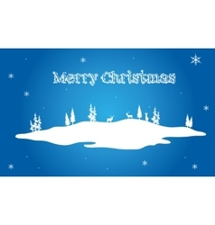 Christmas scenery on blue backgrounds vector