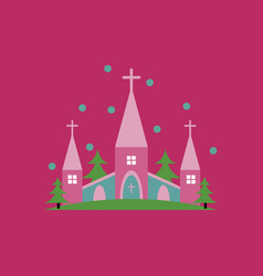 church icon for religion architecture design vector image