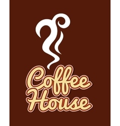 Coffee cup house isolated icon vector
