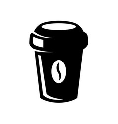 coffee paper cup icon isolated on white design vector image
