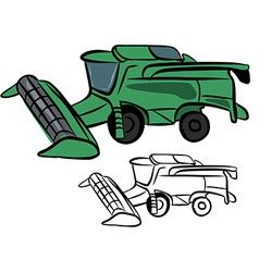 Combine harvester vector