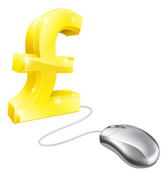 computer mouse pound concept vector image