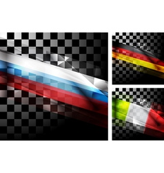 Concept design of flags vector image vector image