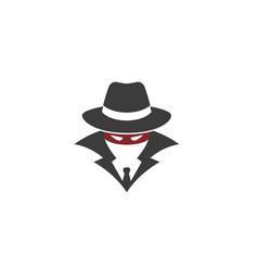 detective hidden face logo vector image