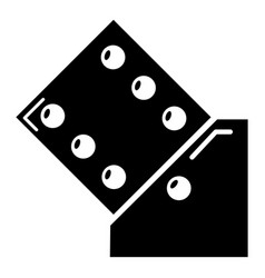 dice icon simple black style vector image