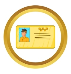 Document taxi driver icon vector