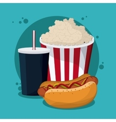 Fast Food design Menu icon Colorfull vector