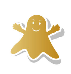 Ghost sign golden gradient icon with vector