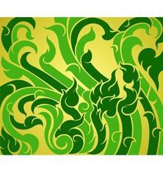 Green vine pattern vector image