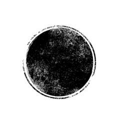 grunge texture brush stamp circle dot vector image