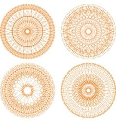guilloche rosettes vector image