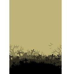 Halloween background with cementer vector