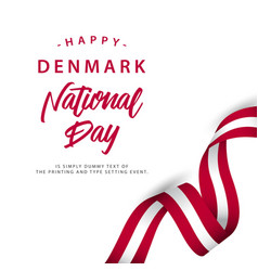 happy denmark national day template design vector image
