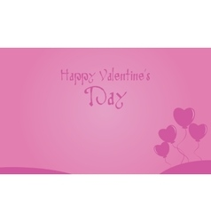 Happy Valentine Day landscape with love balloon vector