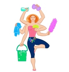 Harvest goddess Cleaning service vector