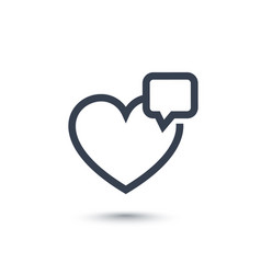 heart like with notification line icon on white vector image