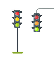 icons of traffic lights isolated on white vector image vector image